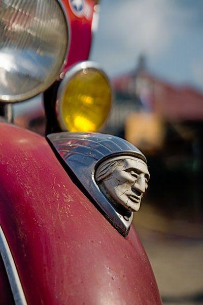 Detail opname Indian motorcycle van Hans Brinkel