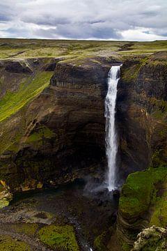 Háifoss te IJsland 1 van