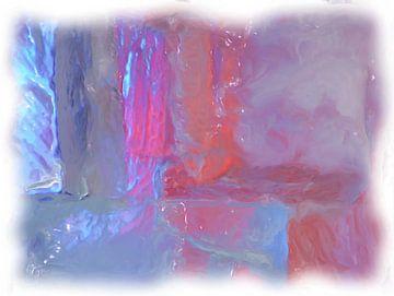 Abstrakt blau rot von Maurice Dawson