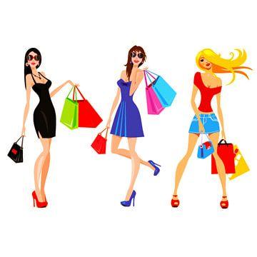 Winkelende trendy meiden van Atelier Liesjes