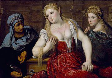 Paris Bordon, Venezianische Frauen beim Schminken - 1545 von Atelier Liesjes