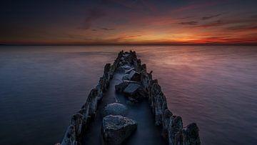 Nacht op het IJsselmeer van Jenco van Zalk