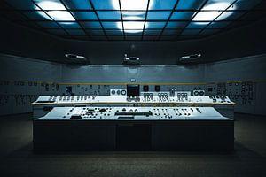 Computer oude elektriciteitscentrale Polen van Bart Van Wijck