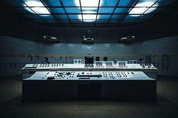 Computer oude elektriciteitscentrale Polen sur