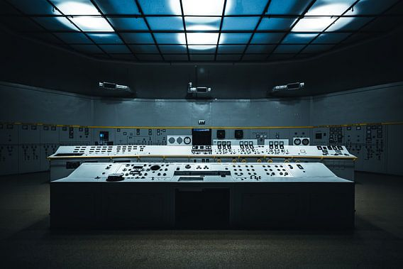 Computer oude elektriciteitscentrale Polen