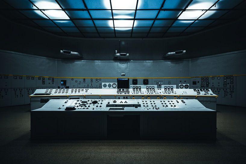Computer oude elektriciteitscentrale Polen von Bart Van Wijck
