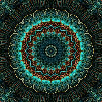 Mandala-Illusion grün sur Marion Tenbergen
