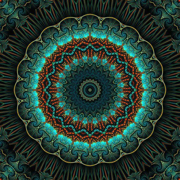 Mandala-Illusion grün