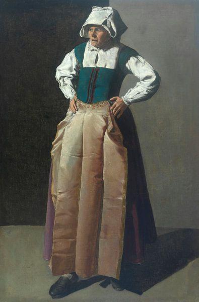 Alte Frau, Georges de La Tour von Meesterlijcke Meesters