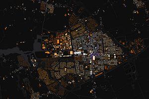 Kaart van Drachten abstract