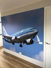 Klantfoto: KLM vliegtuig van Sjoerd van der Wal, als naadloos behang
