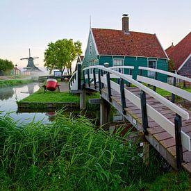 Panorama brug en pad Zaanse Schans van Anton de Zeeuw