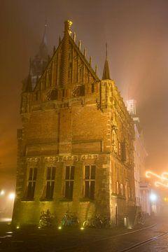 Oude raadhuis in de binnenstad van Kampen sur Sjoerd van der Wal
