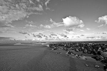 Das Bild des Meeres in Schwarzweiß. von Therese Brals