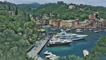 Portofino Italien von Schildersatelier van der Ven