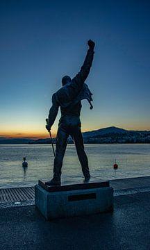 Freddie Mercury Queen Montreux Schweiz von Evelien van der Horst