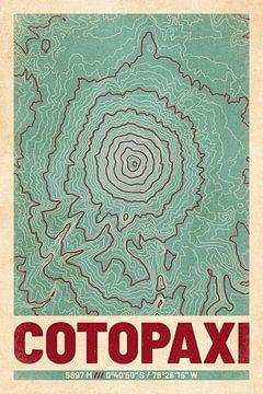 Cotopaxi | Kaart Topografie (Retro) van ViaMapia