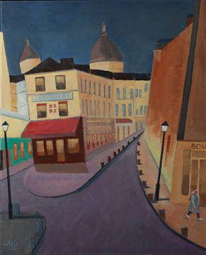 Le Consulat Montmartre Paris von Antonie van Gelder Beeldend kunstenaar