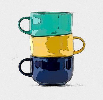 Drei Tassen von Leopold Brix