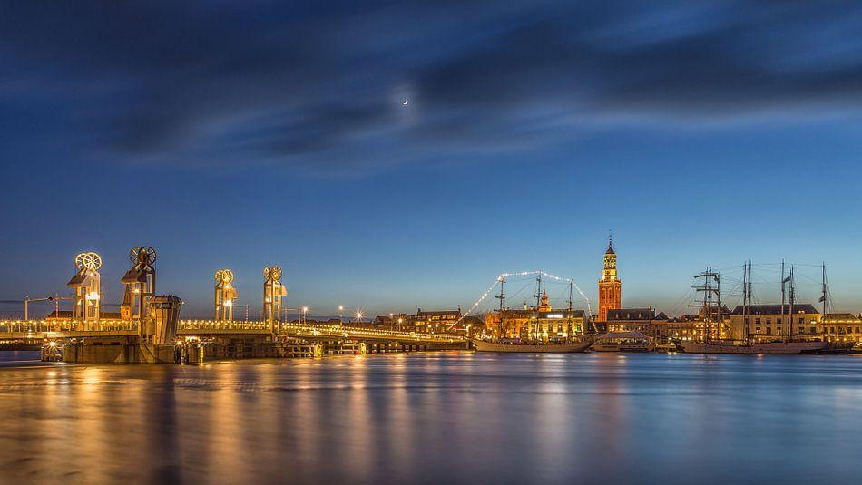 Skyline Kampen in the Blue Hour van Tux Photography
