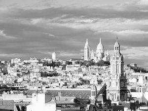 Parijs, Montmartre in zwart-wit