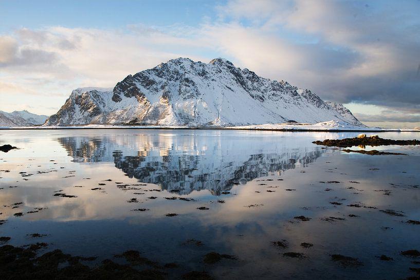 Sneeuw berg van Feike Faase