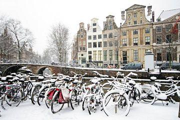 Faire du vélo dans la neige à Amsterdam Pays-Bas sur Nisangha Masselink