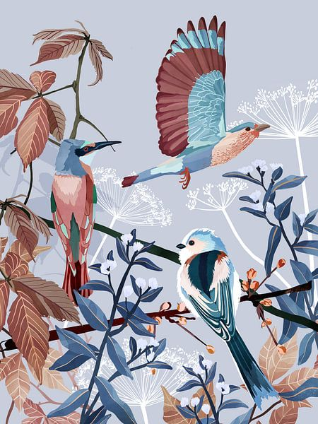 Wintervogels van Goed Blauw