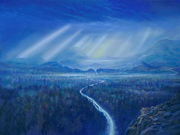 Blaue Wälder