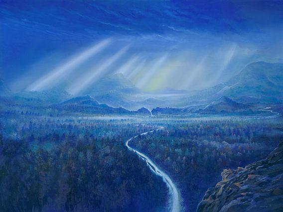 Blaue Wälder van Silvian Sternhagel