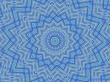 Étoile en bleu sur Caroline Lichthart