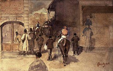Verlassen des Feldes, Edgar Degas - 19. Jahrhundert