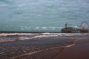 Scheveningen strand van Bjorn Nieuwenhuis