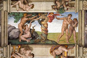 Michelangelo. Uitdrijving uit het Paradijs