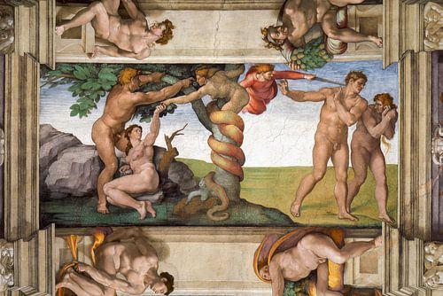 Michelangelo. Uitdrijving uit het Paradijs van 1000 Schilderijen