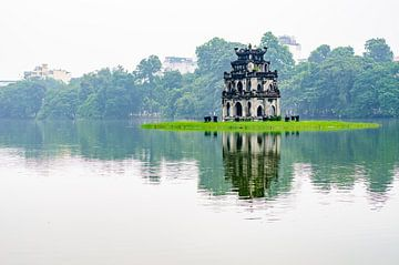 Turtle Tower, Hanoi, Vietnam van Bao Vo