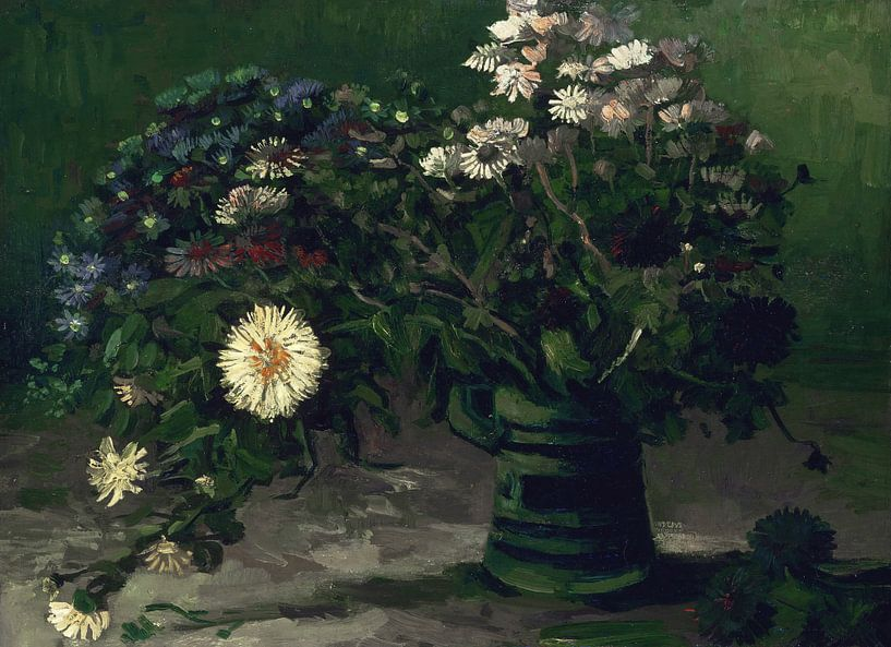 Stilleven met een boeket madeliefjes, Vincent van Gogh van Meesterlijcke Meesters
