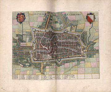 Utrecht, Stadsplattegrond Joan Blaeu 1652 van Atelier Liesjes