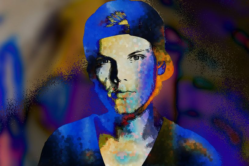 Avicii Tim Bergling Abstract Portret van Art By Dominic