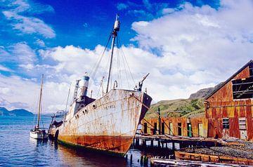 Het Walvisvaardersschip - analoge fotografie! van Tom River Art