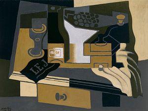 Juan Gris. Le moulin à café van
