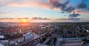 Zon gaat onder in Utrecht. (2)
