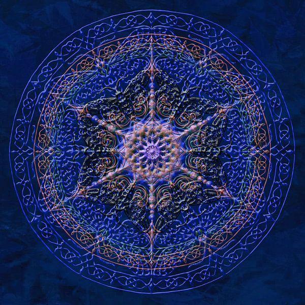 Mandala, koningsblauw van Rietje Bulthuis