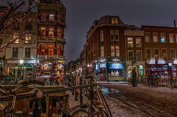 Oude gracht in de sneeuw sur Robin Pics (verliefd op Utrecht)
