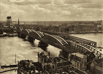 Oude Spoorbrug Rotterdam (1952) sur Rob van der Teen