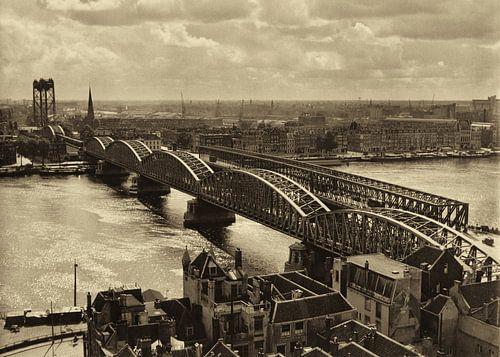 Oude Spoorbrug Rotterdam (1952)
