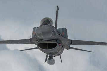 Hellenic F-16 Demo Team 'Zeus', F-16C van de Griekse Luchtmacht, air-to-air gefotografeerd, septembe van Jaap van den Berg