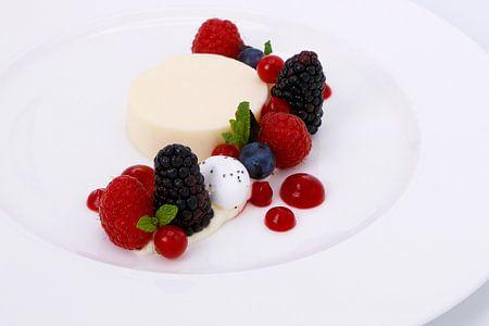 Vanille bavarois met rood fruit