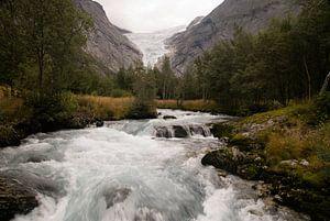 Briksdalbreen gletsjer van