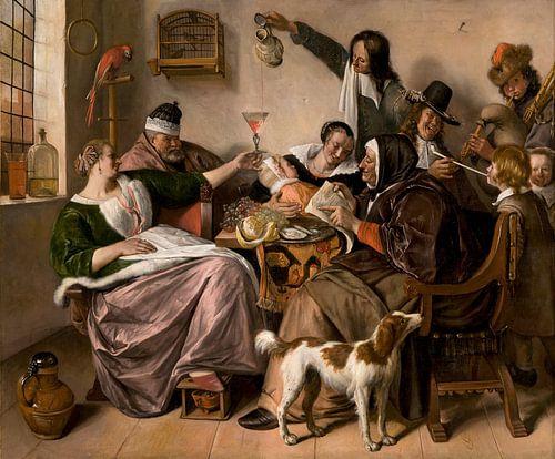 Jan Steen, 'Soo voer gesongen, soo na gepepen' van Meesterlijcke Meesters